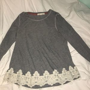 Rewind Tops - Lace Long-Sleeve